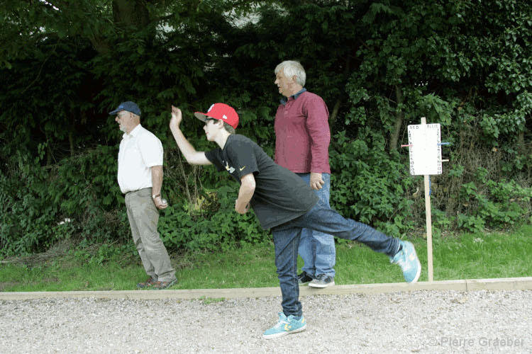 Petanque at the village fete