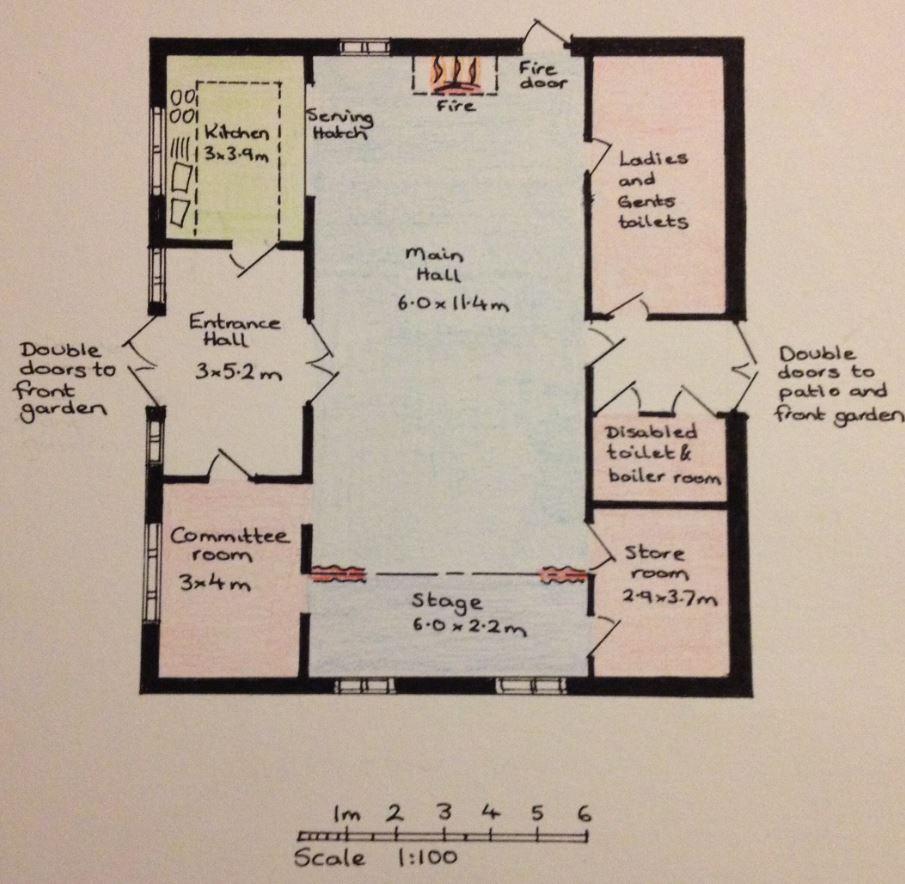 Village Hall plan