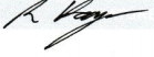 Chairman Signature