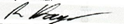 Signature of chair